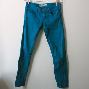 Teal green jeans